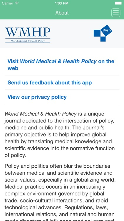 World Medical & Health Policy screenshot-3