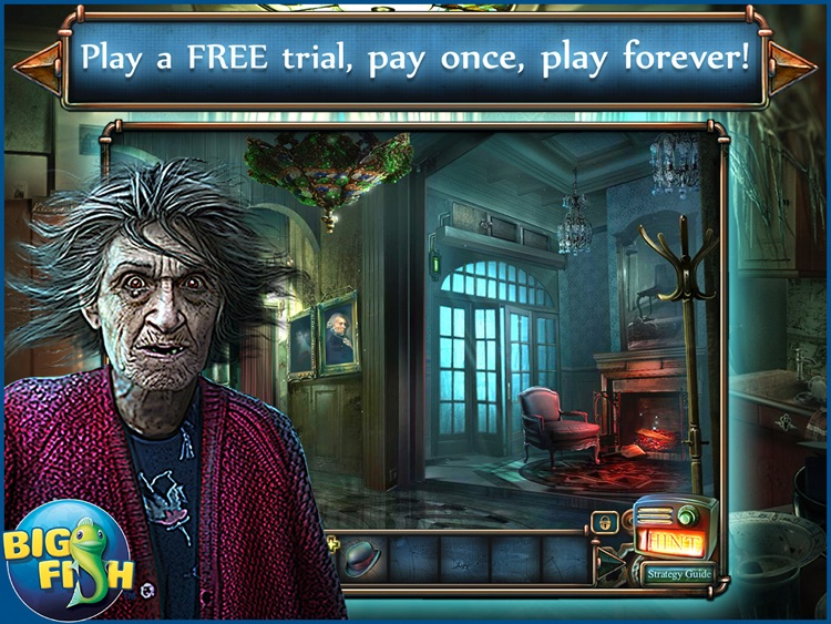 Haunted Hotel: Death Sentence HD - A Supernatural Hidden Objects Game screenshot-0