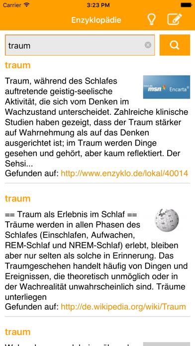 Enzyklopädie (DE) screenshot two