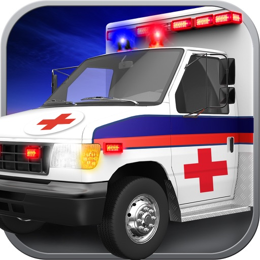 Ambulance Parking Simulator HD - Real Heavy Car Driving Test Run Sim Racing Games