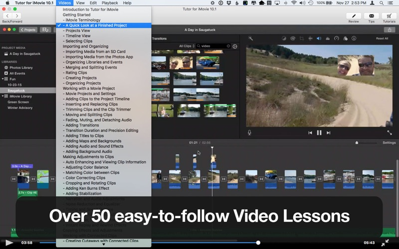 learn how to use imovie