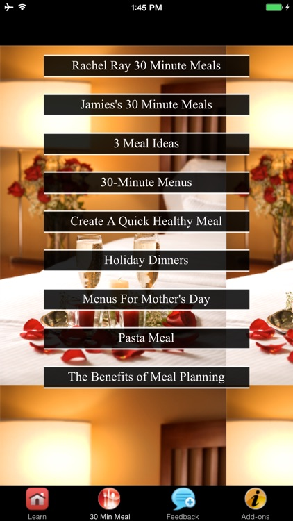 30 Minute Meals - Benefits of Meal Planning