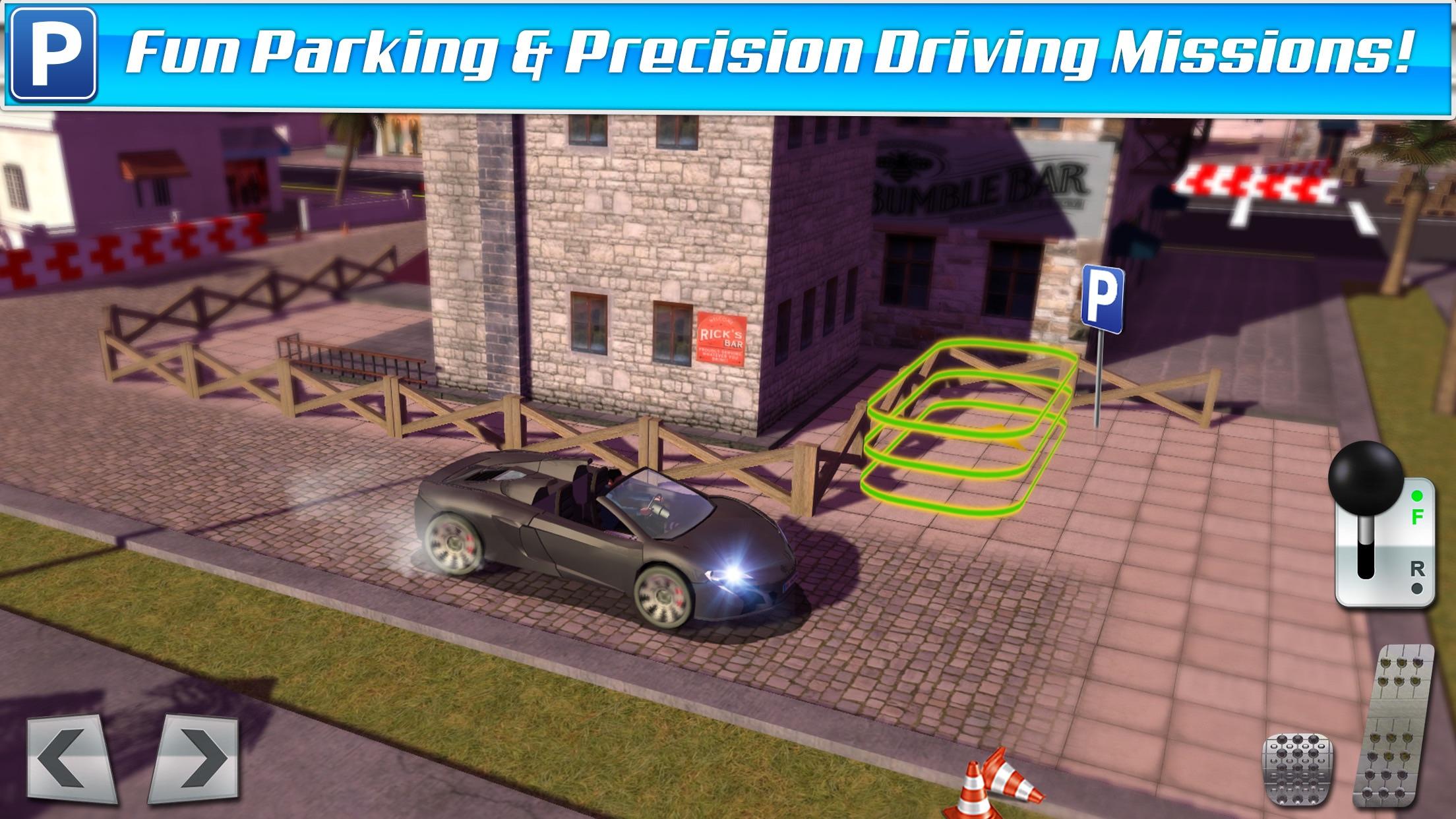 Classic Sports Car Parking Game Real Driving Test Run Racing Screenshot