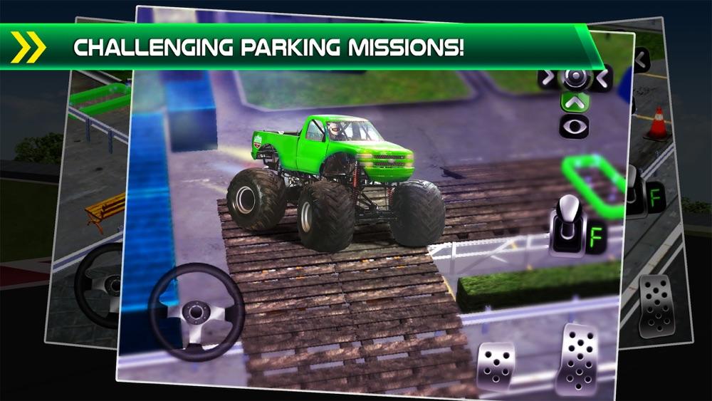 Monster Truck Parking Simulator - 3D Car Bus Driving & Racing Games hack tool