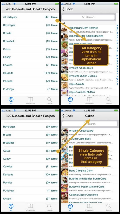 400 Desserts & Snacks Recipes screenshot-0