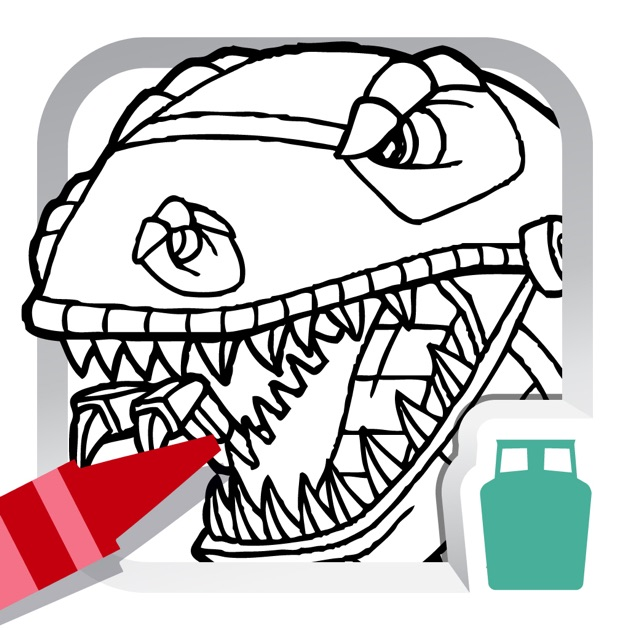 Dino Robot Coloring Book for Kids - Free Fun Painting Games on the ...