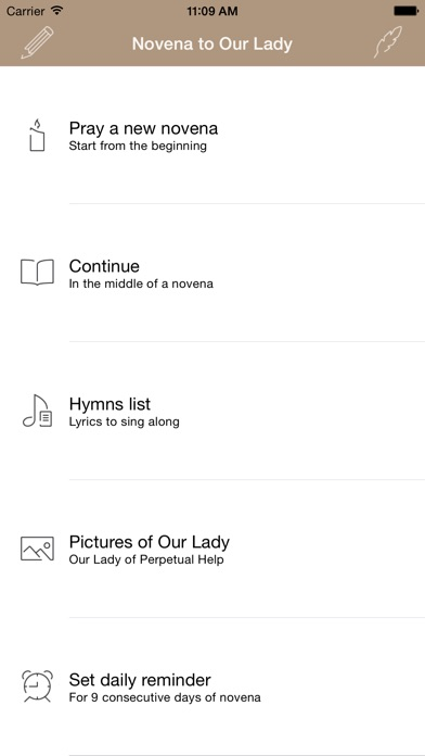 Screenshot for Novena to Our Lady of Perpetual Help in Philippines App Store