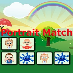 Portrait Match Game for kids