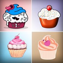 Cupcake Matching - Match 2 Card Game for boy & girl