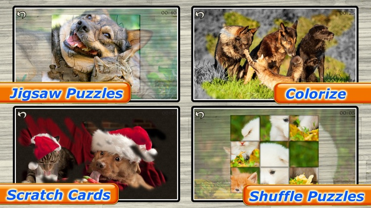 Cute Pets - Real Dogs and Cats Picture Puzzle Games for kids