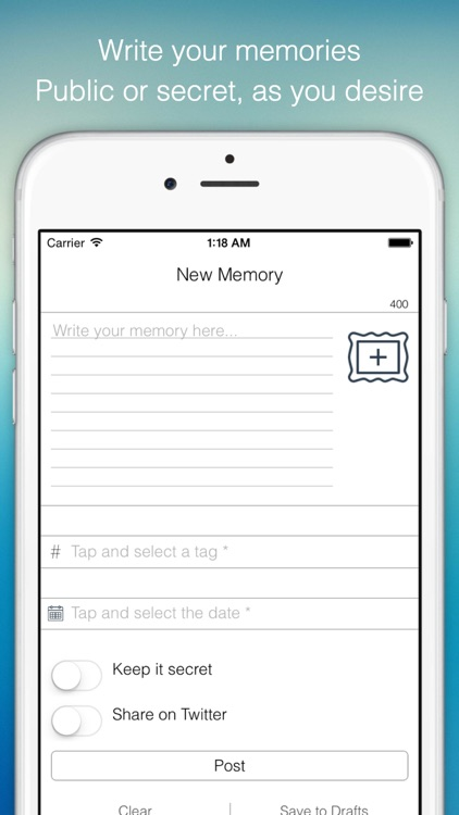 Histofme - Write micro journals and diaries