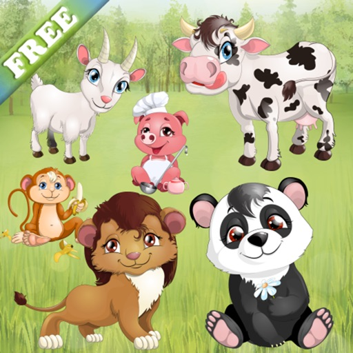 Animals for Toddlers and Kids : puzzle games with pets and wild