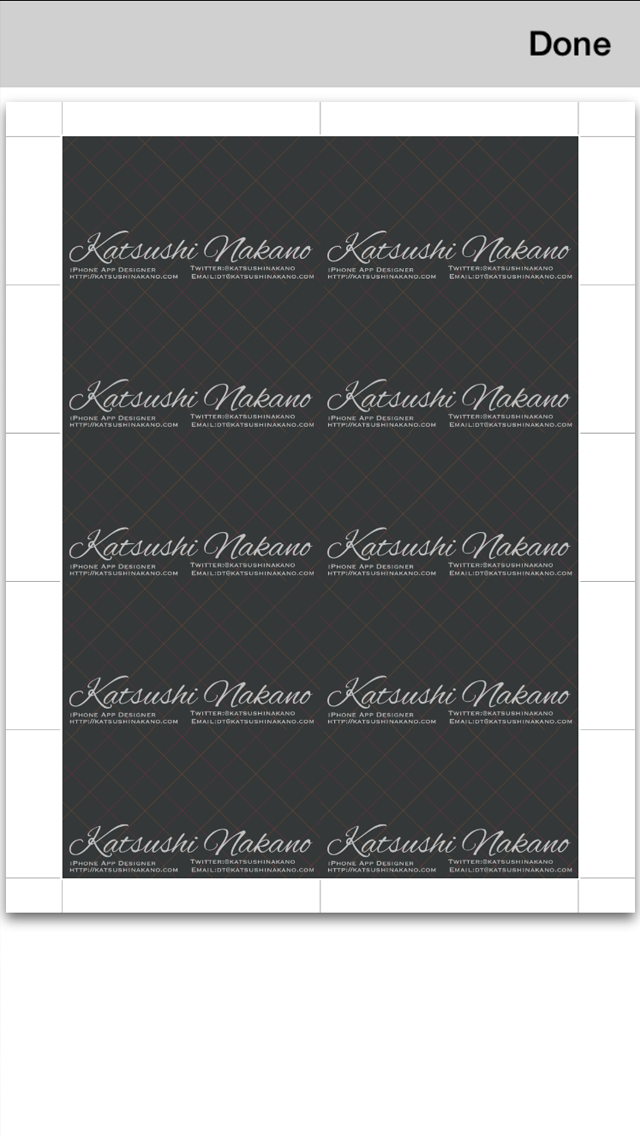 BusinessCardDesigner - 名刺作成ソフト、テンプレート with PDF, AirPrint and email functionのスクリーンショット5