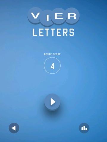 Vier Letters - Raad het Woord iPad app afbeelding 1
