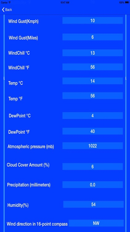 Historical Weather Conditions screenshot-3