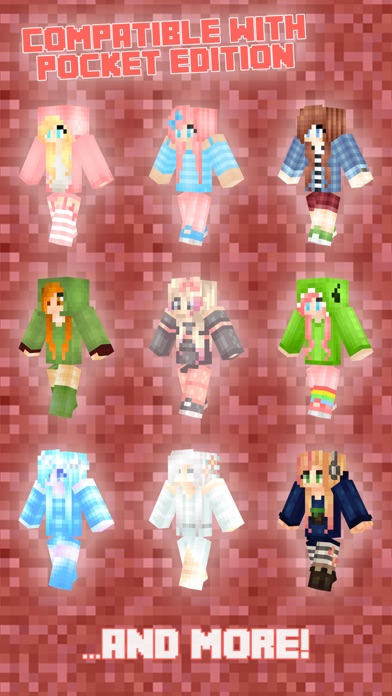 Girl Skins PE Free for Minecraft PE (Pocket Edition Skins) app image