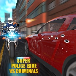 Super Police Bike Race VS Criminals 3D