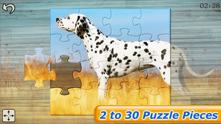 Dog Puzzles - Jigsaw Puzzle Game for Kids with Real Pictures of Cute Puppies and Dogs screenshot-3