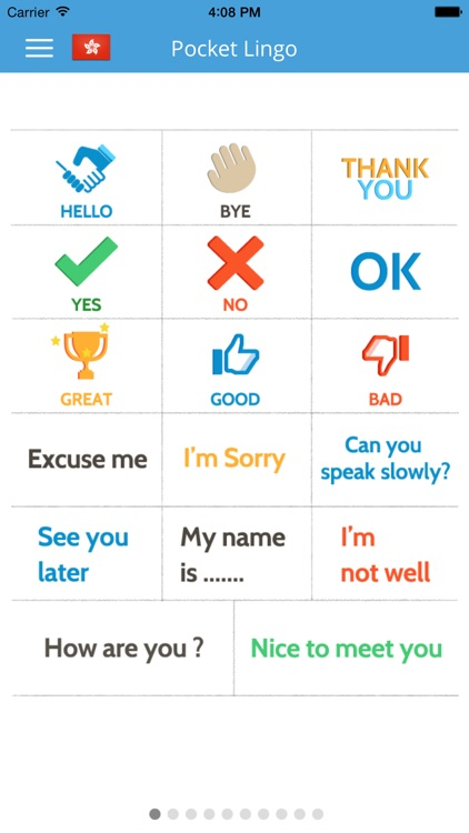 Cantonese Pocket Lingo - Learn new language for trips to Hong Kong & Macau screenshot-0