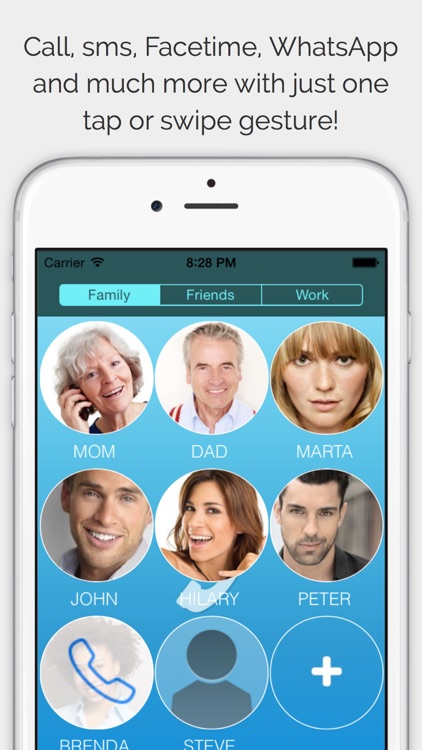 CallRight Pro  -  your favorite contacts from the addressbook promptly available for fast calls and messages and sms screenshot-0