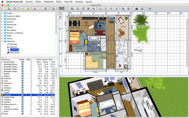 Sweet home 3d en mac app store for Badkamer ontwerpen app ipad