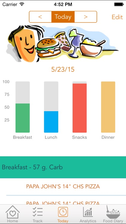 Diabetes Cravings – Control blood glucose level with Carb Tracker that manages food craving and enables healthy food choices screenshot-3