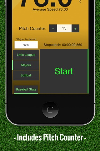 Baseball Pitch Speed - Radar Gun screenshot 2