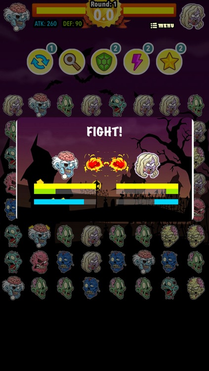 Clash of the Zombies: Match 3 Multiplayer screenshot-4