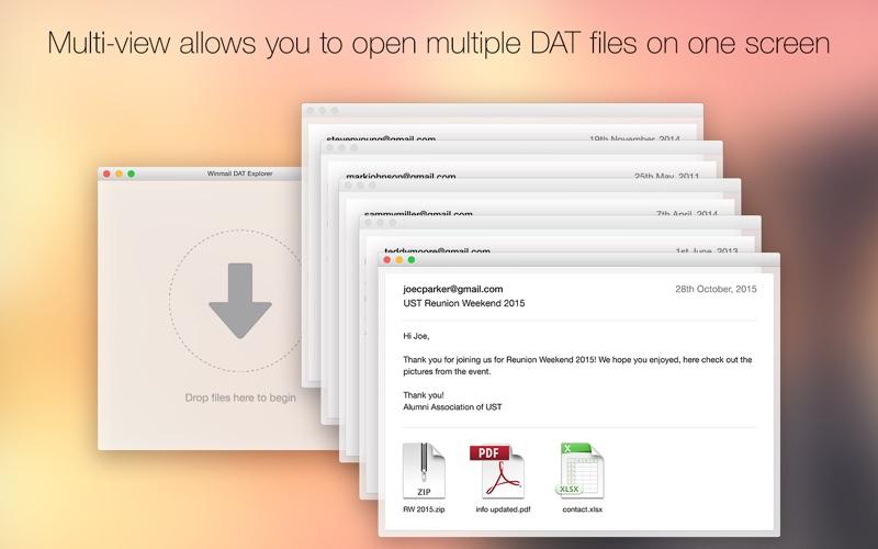 Winmail DAT Explorer Screenshot