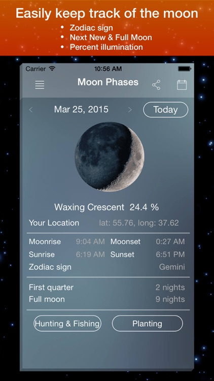 Moon Phase Calendar . screenshot-1