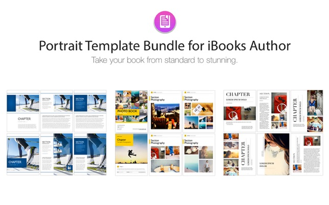 Portrait Templates iBooks Author Edition on the Mac App Store