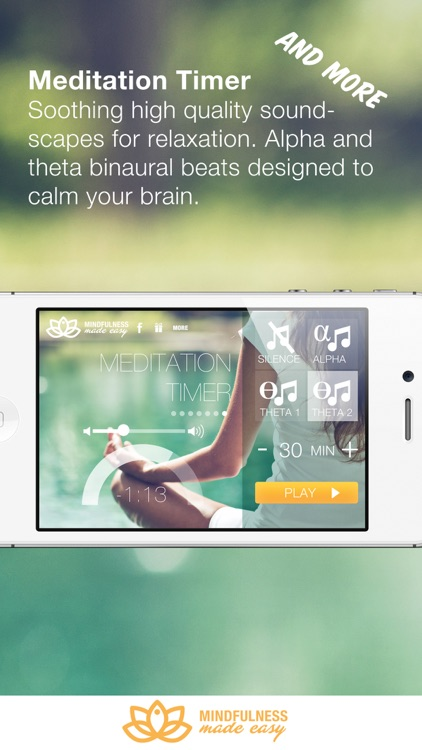 Mindfulness Made Easy - meditations for relaxation, focus and compassion screenshot-4