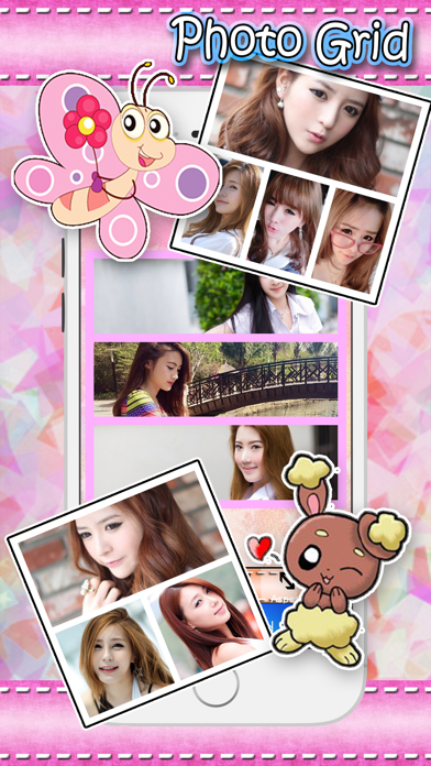 Cute Frame photo editor : plus sticker, filters, effects,