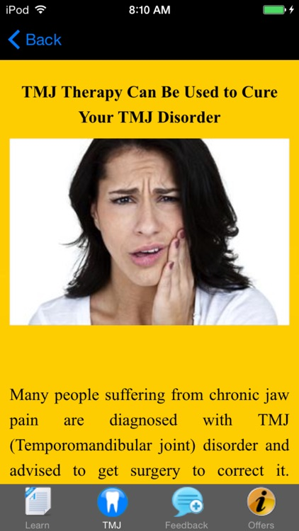 TMJ Disorder - Suggested Treatment & Remedies