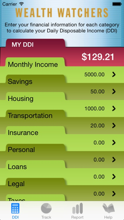 Wealth Watchers Budget Tracker