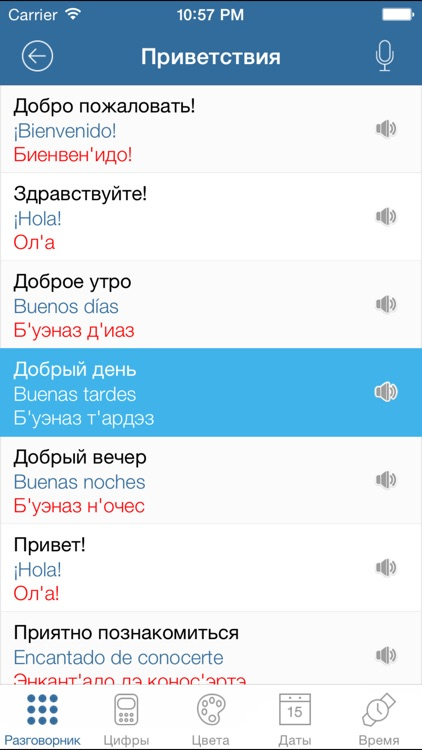 Русско-Испанский Разговорник туриста screenshot-1