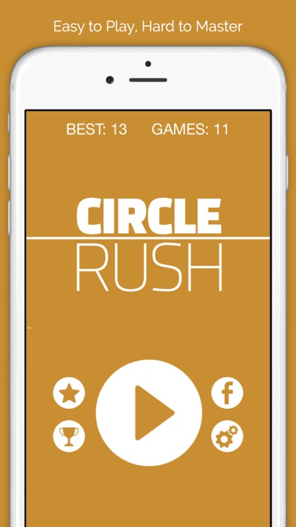 Circle Rush Crossy - Don't Stop the White Ball