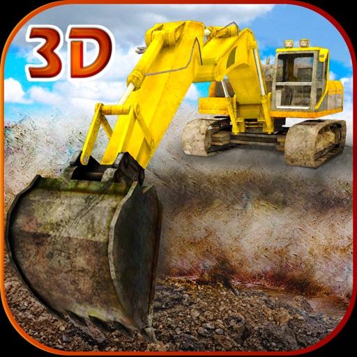 Песок экскаватор симулятор 3D - настоящий дальнобойщик и строительство моделирования игра