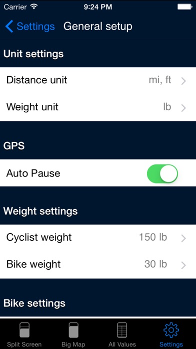 B.iCycle - GPS cycling computer for Road & Mountain Biking Screenshot on iOS