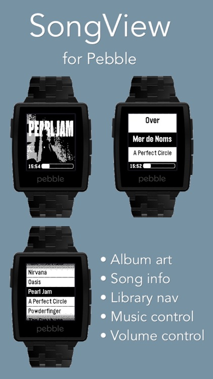 SongView for Pebble