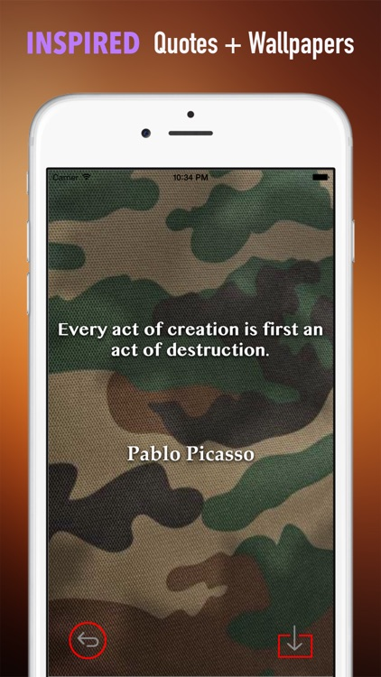 Camo Wallpapers HD: Quotes Backgrounds Creator with Best Art Collections and Inspirations screenshot-4
