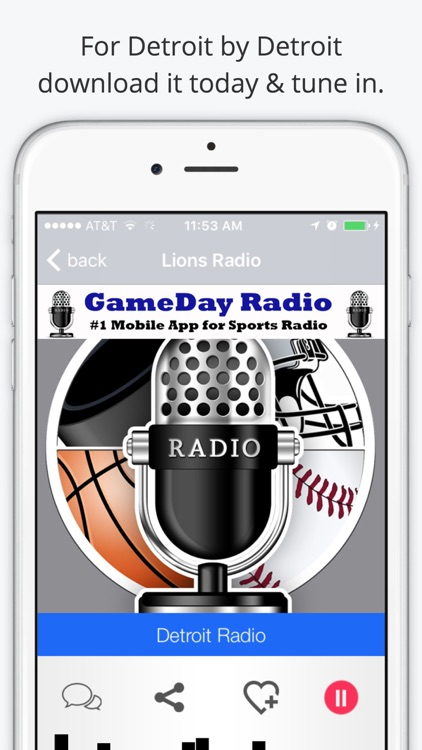 Detroit GameDay Radio for Live Sports – Lions and Red Wings Edition screenshot-3