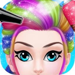Funky Hairstyle - Teens Hair Salon Girls games