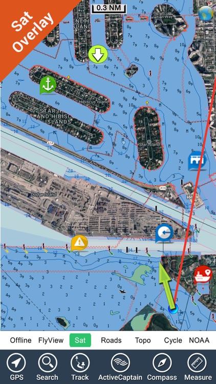 Virginia to New Jersey HD - GPS Chart Navigator