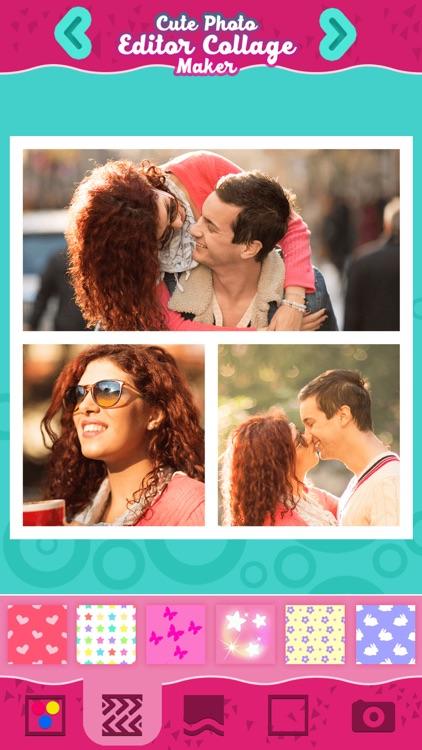 Cute Photo Editor Collage Maker: Pic Art for Girls screenshot-3