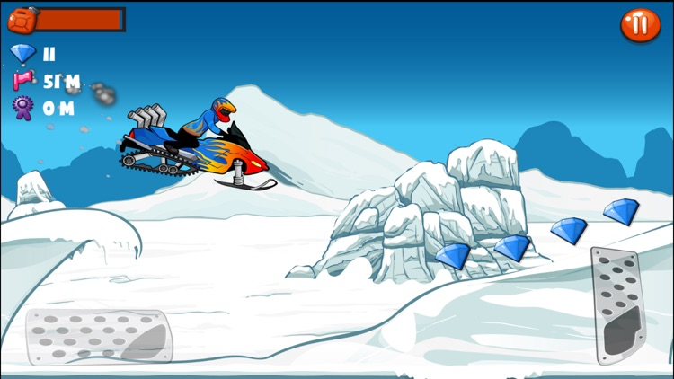 Snowmobile Stunt Racing Game