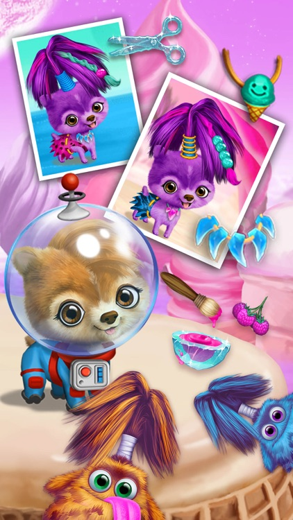 Space Animal Hair Salon – Cosmic Pets Makeover screenshot-4
