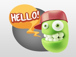 3D Expressions second version of smileys stickers pack with hat for iMessage