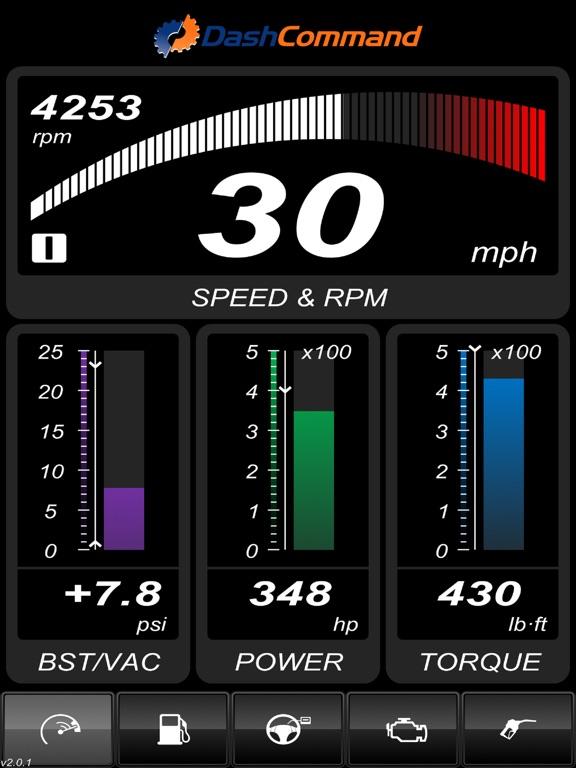 DashCommand - OBD-II gauge dashboards, scan tool iPad