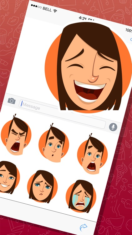 Cool Man and Woman Expressions Stickers